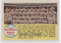 Milwaukee Braves Team (Sixth Series Checklist back) [GoodtoVG&#8209…