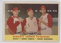 Ed Bailey, Birdie Tebbetts, Frank Robinson [Good to VG‑EX]