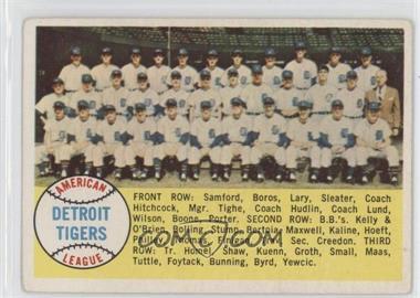 1958 Topps #397 - Checklist (Detroit Tigers Team)