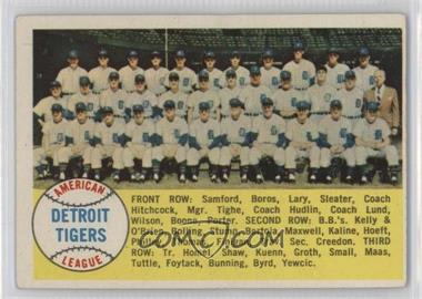 1958 Topps #397.1 - Detroit Tigers Team (Checklist) (Alphabetical Checklist Back)