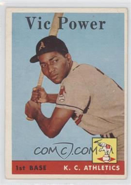 1958 Topps #406 - Vic Power