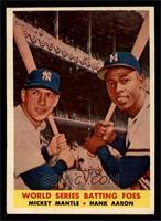 World Series Batting Foes (Mickey Mantle, Hank Aaron) [EX]