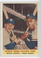 World Series Batting Foes (Mickey Mantle, Hank Aaron)