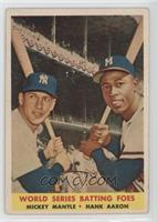 World Series Batting Foes (Mickey Mantle, Hank Aaron) [Good to VG&#82…