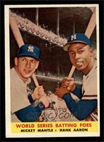 World Series Batting Foes (Mickey Mantle, Hank Aaron) [EX]