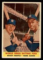 World Series Batting Foes (Mickey Mantle, Hank Aaron) [VG EX]
