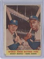 World Series Batting Foes (Mickey Mantle, Hank Aaron) [Poor to Fair]