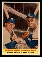 World Series Batting Foes (Mickey Mantle, Hank Aaron) [NM]