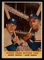 World Series Batting Foes (Mickey Mantle, Hank Aaron) [EX MT]