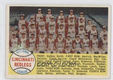 1958 Topps #428.1 - Cincinnati Reds Team (Alphabetical)