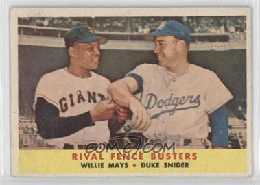 1958 Topps #436 - Rival Fence Busters (Willie Mays, Duke Snider)
