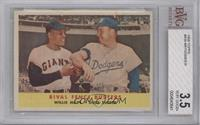 Rival Fence Busters (Willie Mays, Duke Snider) [BVG 3.5]
