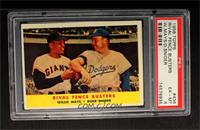 Rival Fence Busters (Willie Mays, Duke Snider) [PSA 6]