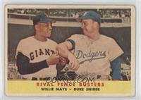 Rival Fence Busters (Willie Mays, Duke Snider) [Good to VG‑EX]