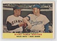 Rival Fence Busters (Willie Mays, Duke Snider) [GoodtoVG‑EX]