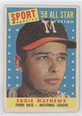 1958 Topps #480 - Eddie Mathews [GoodtoVG‑EX]