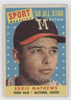 1958 Topps #480 - Eddie Mathews [Good to VG‑EX]
