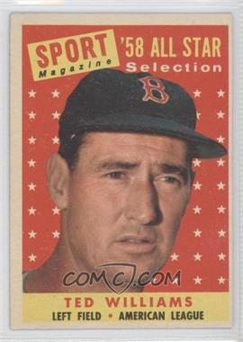 1958 Topps #485 - Ted Williams