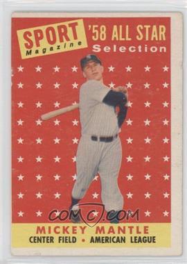 1958 Topps #487 - Mickey Mantle [GoodtoVG‑EX]