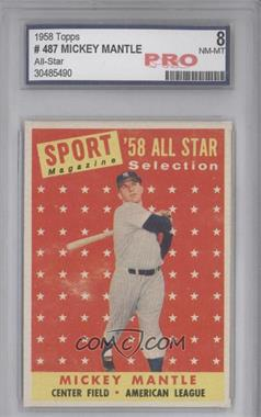 1958 Topps #487 - Mickey Mantle [ENCASED]