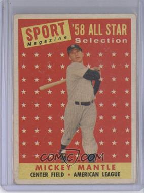 1958 Topps #487 - Mickey Mantle [Good to VG‑EX]