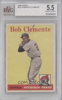 1958 Topps #52.1 - Roberto Clemente (White Team Name) [BVG5.5]