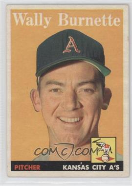 1958 Topps #69 - Wally Burnette