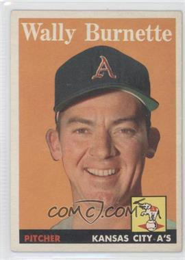 1958 Topps #69 - Wally Burnette