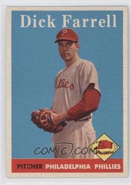 1958 Topps #76.1 - Dick Farrell (team name in white)