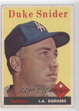 1958 Topps #88 - Duke Snider [GoodtoVG‑EX]
