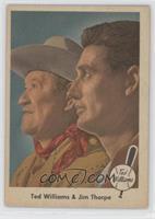 Ted Williams and Jim Thorpe [GoodtoVG‑EX]