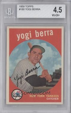 1959 Topps - [Base] #180 - Yogi Berra [BGS4.5]