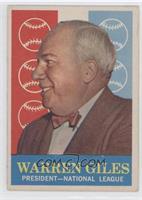 Warren Giles (white back)