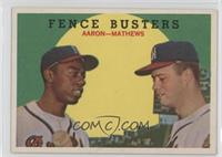 Fence Busters (Hank Aaron, Eddie Mathews) (Grey Back) [GoodtoVG&#82…