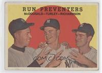 Run Preventers (Gil McDougald, Bob Turley, Bobby Richardson) (grey back)