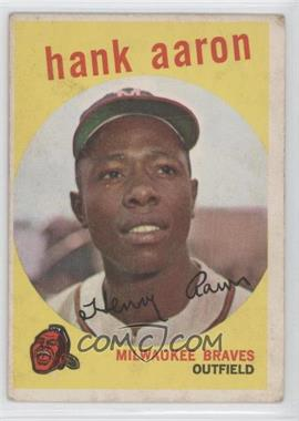 1959 Topps - [Base] #380 - Hank Aaron [GoodtoVG‑EX]