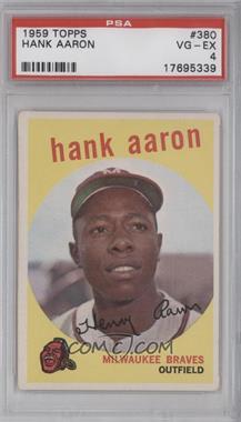 1959 Topps - [Base] #380 - Hank Aaron [PSA4]