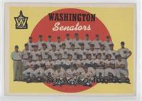 Washington Senators Team (6th Series Checklist)