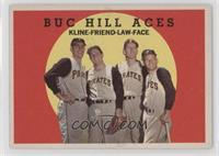 Ron Kline, Bob Friend, Vern Law, Roy Face