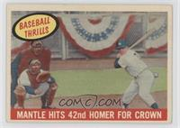 Mantle Hits 42nd Homer for Crown (Mickey Mantle)