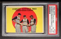 Corsair Outfield Trio (Bob Skinner, Bill Virdon, Roberto Clemente) [PSA6&…