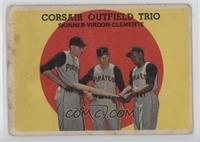 Corsair Outfield Trio (Bob Skinner, Bill Virdon, Roberto Clemente) [Poor]