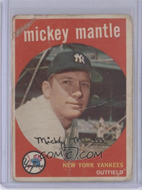 1959 Topps #10 - Mickey Mantle [Poor]