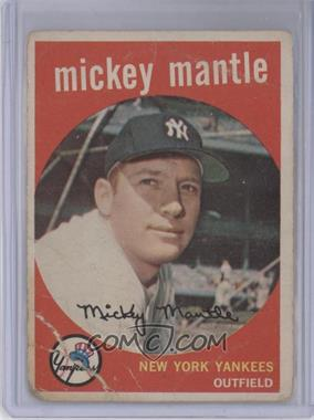1959 Topps #10 - Mickey Mantle [Poor to Fair]