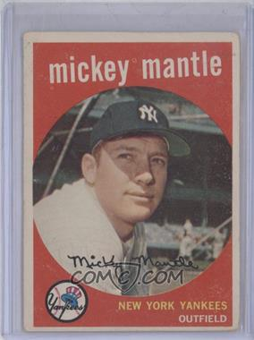 1959 Topps #10 - Mickey Mantle [GoodtoVG‑EX]