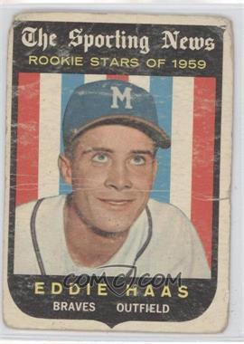 1959 Topps #126 - Eddie Haas [Poor]
