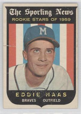 1959 Topps #126 - Eddie Haas [Poor to Fair]
