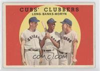 Cubs' Clubbers (Dale Long, Ernie Banks, Walt Moryn) [Good to VG&#8209…