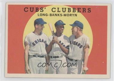 1959 Topps #147 - Cubs' Clubbers (Dale Long, Ernie Banks, Walt Moryn)