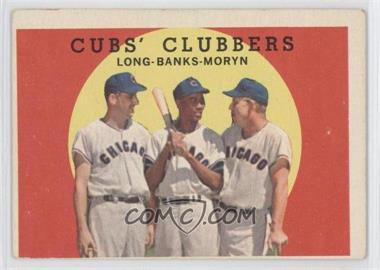 1959 Topps #147 - Cubs' Clubbers (Dale Long, Ernie Banks, Walt Moryn)